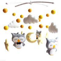 Baby Mobile chocalhos brinquedos 360 graus Suporte de suporte de suporte infantil berço infantil Bels com caixa musical para brinquedos de bebê 0-24 meses y0126 2560 Q2