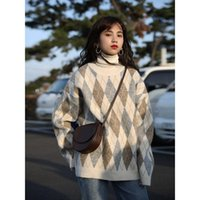 Women's Sweaters Pullovers Women Soft Autumn O-Neck Chic Daily Tops Womens Pullover Sweet Student Harajuku Knitted Loose Outwear Jumper
