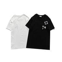 Mola Luxo Itália T-shirt T-shirt Designer Polo Camisas High Street Bordado Bordado Bordado Bordado Pequena Abelha Printing Roupas Mens Marca Tops