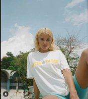 Tee Kadın Kaliteli Yansıtıcı Mektup Pamuklu Erkek Kız P + F Yerler + Yüzler T Gömlek