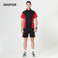 Men's Tracksuits 2021 Tracksuit Men Summer T-Shirt+Shorts Set T-shirt And Shorts Casual Clothing Sports Wear Gym Clothes Sweat Suits