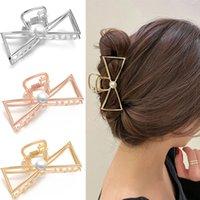 Fashion Women Barrettes Metal Hair Claws Hair Accessories Hairclips Hairpins Ladies Hairgrip Headwear Girls Ornaments Hair Crab