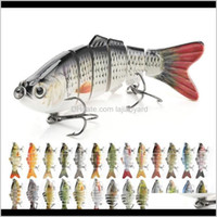 Sports & Outdoors Drop Delivery 2021 Colors Jointed Swimbait Sinking Wobblers 3D Fishing Lures 10Cm 17Dot5G Fake Bait Carp Pesca Hooks Iheln