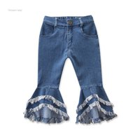 Весенняя вспышка детские брюки 2020 ребёнок джинсы кисточек леопардовые домолочные отверстие детские джинсовые брюки эластичные талии Multi Color 30YM G2