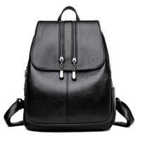 Women Backpack High Quality Leisure Rucksack PU Leather Mochila Mother Vintage Bags Top-handle Backpacks Fashion Daypack 210911