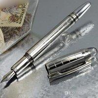Famoso de la bola de rodillo de revestimiento de plata Pen m B Pen Crytal Top Metal Gift Pens + 1 Reclamaciones gratuitas