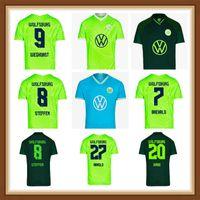 2021 2022 VFL Wolfsburg 축구 유니폼 Roussillon Whyhorst Kalus Arnold Malli Brekalo Mehmedi Ginczek Guilavogui Xaver Steffen 축구 셔츠