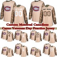 Custom Camo Veterans Day Practice Montreal Canadiens Hockey Jerseys 14 Nick Suzuki 9 Maurice Richard 11 Brendan Gallagher 6 Shea Weber Qualsiasi nome e numero