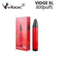 Factory Bulk OEM Vapes Electronic Cigarettes VIDGE XL 6% 800 Puffs Disposable Device Pod Starter Kits 550mAh Battery 3ml Capacity Cartridges Vapepen Valid Code