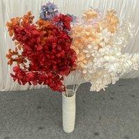 Dekorative blumen kränzen 5 teile / lot plumeria rubra seide künstliche braut blumenstrauß hochzeit dekoration zubehör für vase pflanzen arra