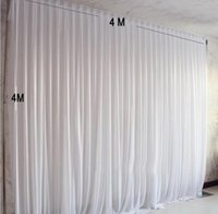 Party Decoration 4x4M Ice Silk Fabric Drapes Panels Hanging Backdrop Curtains Wedding Drape Events Background Cloth For Stage