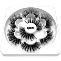 False Eyelashes Reusable Soft Band Handmade Craft Thick Long Wispy Fluffy Eye Lashes Extension 6D Faux Mink