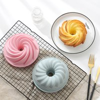 Baking Moulds Qifeng DIY Cake Mould 6-inch Household Steamable Silica Gel Non-stick Round Savarin Bake Plate Fluted Tube Cup Jello Gelatin Molds Bakeware
