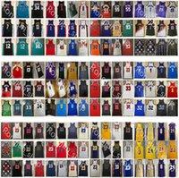 Mitchell Ness Real Auténtico Pedido East Basketball Jerseys Retro Pippen Rodman Iverson Garnett Durant Irving Harden Harden Wade Mutombo McGrady Hada Curry Rose