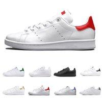 Adidas stan smith shoes Smith clássico Sapatos Casuais Raf Simons Stan Smiths Cobre Primavera Branco Rosa Preto Moda Masculina Marca de Couro sapatos femininos Flats Sneakers