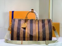 Capsule Collection Bandoulière 50 Duffle Сумка дизайнерские выходные сумки 50 см TravelHigh Quality кожа латья четворить переносить на багаж