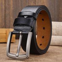 2021 designers moda [lfmb] vaca genuína cinta de cinta de luxo para classifique vintage pin couro macho para homens