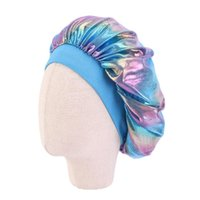 Fashion Hair Bonnet Satin Silky Big Kids Children Sleep Cap ...