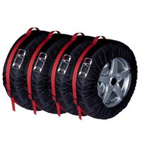 4pcs Car Spare Tire Cover Case Polyester Auto Wheel Tires Storage Bags Vehicle Tyre Accessories Dust-proof Protector Styling Car