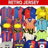 96 97 Ronaldo Retro Futebol Jerseys 1999 STOITCHKOV Figo Ronaldinho 08 09 07 91 92 Koeman Clássico Henry Laudrup Guardiola Xavi Pique