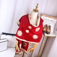 2021 Fashion Winter Top 100% Cashmere Scarf For Women High End Designer Oversized flowers Shawls and Scarves Men's Women's Scarfs 180*70CM