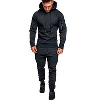 Men's Tracksuits 2021 Autumn Winter Tracksuit Men Sets Hooded Sweatshirt Outfit Sportswear Male Pullover Hoodies+Sweatpants Suits Chandal Ho