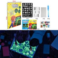 Highlighters A3 3D Magic Drawing Board Children Clipboard Set LED Writing Creative Art With Pen Kids Gift