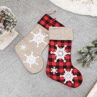 Parti Malzemeleri Üç Boyutlu Işlemeli Kar Tanesi Noel Çorap Xmax Süsler Çorap Çanta Çocuk Hediye Çanta Dekorasyon