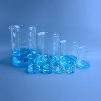 Fournitures de laboratoire Capacité de 50 ml-3000ml Bécher bas de forme basse Mesure de verre Chimie chimie Borosilicate Transparent Grossales