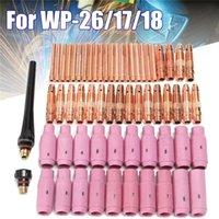 62 stücke TIG-Schweißbrenner Keramik Kupferdüse Pyrex Cup für Maschine WP-26 / 17/18 KIT
