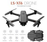 XT6 LS-E525 Mini WiFi FPV with 4K 1080P HD Dual Camera Drones Altitude Hold Mode Foldable RC Drone Quadcopter RTF-Drone