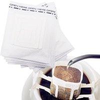 Filtros de café 50-200 PCS / Paquete Bolsas de folletos desechables Portátiles Colgante Ear estilo de papel para el espresso