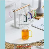 Wine Glasses Drinkware Kitchen, Dining Bar & Gardencreative Cute Colored Korean Reusable Nordic Glass Cup With Handle Coffee Vasos Cristal A