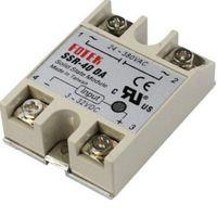 24V-380V 40A SSR-40 دا الصلبة تترحيل الدولة وحدة تحكم في درجة الحرارة PID 3-32V DC إلى AC