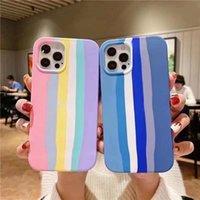 Rainbow Silikon-Handy-Fälle für iPhone 12 11 x XR-Rückseite mit dem Einzelhandelspaket