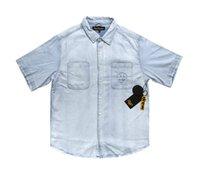Мужские рубашки Desighner T Draw House Denim Повседневная Рубашка с коротким рукавом Футболка Top Мода Мужская Одежда