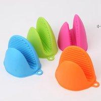 Guantes de silicona clips antideslizante olla soporte de tazón de fuente aislamiento guante hornear horno Mits microondas resistencia térmica calentamientoCcesorios BWF10476