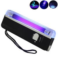 Handheld UV-UV-Schwarzlicht-Taschenlampe tragbarer Schwarzlicht mit LED-Lila-Geld-Detektor-Bike-Lichter