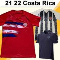 2021 Kosta Rika Erkek Futbol Formaları Ev Kırmızı Uzakta Siyah Beyaz 100th Hatıra Edition Aldult Kısa Kollu Futbol Gömlek Üniformaları