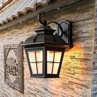 Outdoor Wall Lamps HAWBOIRR LED European Style Simple Villa Balcony Waterproof Traditional Corridor Lamp Retro Indoor Living Room