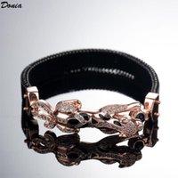 Donia Ювелирные изделия Европейская и американская роскошная леопард браслет меди микроиннатин Циркон весна женские подарочные браслеты