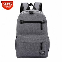 USB charging backpack male Korean fashion trend school bag youth computer light casual simple #gB87