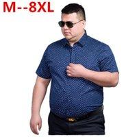 8xL 6xL 5x Мужчины Мода свободные подходят повседневные рубашки с коротким рукавом 100% хлопок платье лоскутный модный стиль мужской мужской