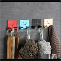 Creative Super Suction Sticker Space Aluminum Hook Nail Fixer Suitable For Kitchen And Bathroom Tools Mount Hook1 Cghqu Hooks Rails Ndcpc