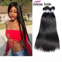 Ishow hair 8a بيرو مستقيم عذراء هير 4 حزم 100٪ غير المجهزة بيرو الشعر البشري ينسج بيرو عذراء الشعر مباشرة