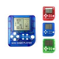 Tetris Game Console Console de poche Rétro Nostalgique hôte Jeux portables Joueurs LCD Écran Consoles de jeu avec Keychain Enfants Jouets Enfants Cadeaux