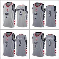 Männer Basketball Washingtoncity Team 4 Westbrook 3 Becher 8 Hachimura 2020-21 City Grey Sleeveless Jersey