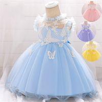 Baby Prinzessin Kleid für Baby Taufe 1. Jahr Geburtstagskleid Neugeborene Baby Mädchen Party- und Hochzeitskleid Säuglingskleidung Q1223 169 Z2