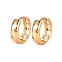 Hoop & Huggie Chunky Earrings For Women Minimalist Classic Crystal Piercing Tiny Hoops Ear Rings Accessories Gold Jewelry Dropship KBE110