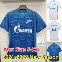 21 22 FC Zenit St. Petersburg Fussball Jersey 2021 2022 Malcom Rigoni Dzyuba Azmoun Lovren Football Hemd Erwachsene Männer MAILLOT DE FOUT